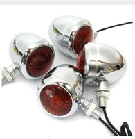 4PCS Metal Motorcycle LED Turn Signal Indicator Light Lâmpada de lâmpada para Harley / Cafe / Racer 10W Turn Signal Light
