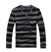 Wholesale Purple Stripe Sweater - Wholesale- MYTL New arrival 2016 men's long-sleeved cotton stripes sweater fashion and hot pullover men brand new of