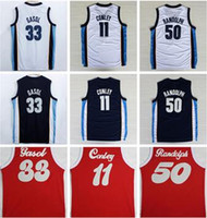 Wholesale Shirt Sound - 2017 Newest 33 Marc Gasol Jersey 1970 Sounds Red Navy Blue White Throwback 50 Zach Randolph Shirt Uniform 11 Mike Conley Basketball Jersey