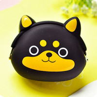 Wholesale Silicone Coin Wallet - 2017 Fashion Lovely Kawaii Candy Color Cartoon Animal Cute Women Wallet Multicolor Jelly Silicone Coin Bag Purse Kid Girls Gift