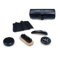 Wholesale Boot Polish - Shoe Polishing Kit High Quality Leather Boot Care Shine Travel Kits Protection