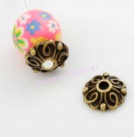 Wholesale Bali Style Jewelry - 62pcs   9.2x8.9mm Antique Bronze Bali Style Flower Bead Cap Jewelry Findings Components L1042 wholesale bead caps