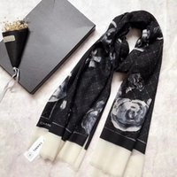 Wholesale rose cashmere - new arrival rose black white women cashmere scarf 200cm*110cm 100% cashmere pashmina woman scarf gifts for Chirstmas Thanksgiving Day