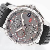 Wholesale Miglia Watch - High Quality Miglia 2007 Gran XL Chronograph Casual 2007 Limited Model Mens Watch Black Rubber Band Gray Men's Sport Wrist Watches