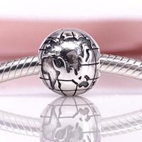 Wholesale clip fine - Globe Clip Charm Authentic 925 Sterling Silver Women DIY Fine Jewelry 791182 clip Charm
