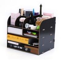 Online Shopping Home Magazines High Quality Wooden Home Office Desktop Storage Holder Shelf Make Up