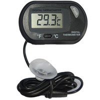 Wholesale Water Tank Digital Thermometer - 2017 new LCD Digital Fish Tank Aquarium Thermometer Temperature Water Terrarium Black Aquariums Aquariums & Fish free shipping
