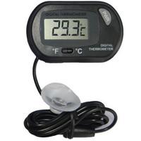termometre suyu toptan satış-2017 yeni LCD Dijital Balık Tankı Akvaryum Termometre Sıcaklık Su Teraryum Siyah Akvaryumlar Akvaryumlar Balık ücretsiz kargo