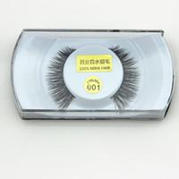 Wholesale Wholesale Professional Mink Eyelashes - Professional False Eyelashes makeup 100% Real Mink Natural Thick False Fake Eyelashes Eye Lashes Eye Makeup Extension Beauty Tools 28 Styles