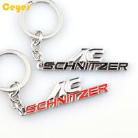 Wholesale Ac Schnitzer Badges Emblems - Fashion 3D Metal Keychian Logo AC SCHNITZER Emblem Badges for BMW acs7 acs3 acs1 acs6 x2 x3 x5 z4 Car Styling Keyring