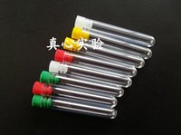 Wholesale wish bottle tube - Plastic Clear Wish Bottles Test Tube Shape wishing bottles With Plastic Stopper 75x12mm for High-quality