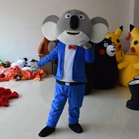 Wholesale Mascot Costume Koala - 2017Top Grade Deluxe Sing Mascot Costume Cartoon Character Costumes Koala Mascot Costume Fancy Dress Party Suit