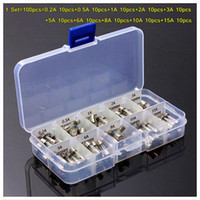 Wholesale 15a fuse car for sale - 5 MM Fast Quick Blow Glass Tube Car Fuse Assortment Kit A A A A A A A A A A AMP Tube Fuses