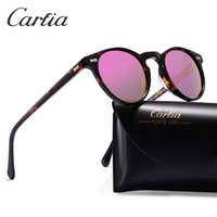 Wholesale Designer Men Sunglasses Polarized Lenses - Polarized sunglasses women sunglasses carfia 5288 oval designer sunglasses for men UV 400 protection acatate resin glasses 5 colors with box