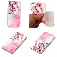 Flower Lace Rock Marble Soft TPU IMD Case pour Iphone 7 Plus 6 6S SE 5S 5 5C Touch 6 5 Gel de silicone naturel hybride Granite Stone Fashion Skin