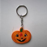 Wholesale customized keychains for sale - Group buy Hot Sale Customized pumpkin PVC Customized keykain soft pvc made character keychains personalized PVC Keyrings