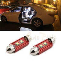 Wholesale C5w Smd - Car led interior C5W Festoon dome reading light 2 smd Canbus high power Car Door Reading Luggage Glovebox pathway License Plate Light