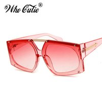 WHO CUTIE 2017 Oversized Clear Linse Sonnenbrille Cool Arrow Style CRYSTAL PINK W ROSE GOLD KW Sonnenbrille Transparente Schattierungen OM398