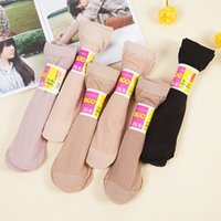 Wholesale Sexy Girl Black Socks - New Spring Summer Autumn Multi Pure Color Quality Stereotype Women Girls Silk Socks Cool Breathable Cool Sexy Black Skin Sock Free Shipping