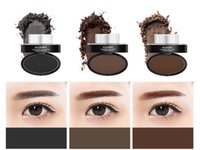 1set black light stamp - Kaxier Quick Makeup Stamp Eyebrow Powder Eyes Makeup Eyebrow Stamp Seal Eye Brow Powder Eyeshadow Brow Color Black Gray Dark Light Brown