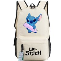 Wholesale Baby Lilo Stitch - Girl Lilo backpack Baby stitch school bag SF film daypack Laptop schoolbag Outdoor rucksack Sport day pack