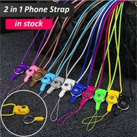 Wholesale Lanyard For Camera - 50CM Cell Phone Lanyards Woven Fabric Neck Strap Detachable Lanyard Necklace with 12 Colors for Cell Phone Mp3 Mp4 Camera ID Card