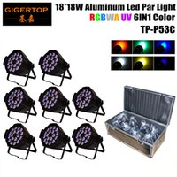 Wholesale Wedding Equipment Wholesale - 8IN1 Flightcase Pack 18x18W RGBWA+UV 6in1 Led Par Cans Wedding Light Equipment Rental Outdoor Led Wall Washer Light Thick Case TP-P53C