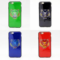 Wholesale Hot Sales Mobile Phone - Hot Sale Mobile Phone Cases Tiger Head Protective White Hard Cases For Iphone 5 5s 6 6s 6 Plus 7 7plus Cases 5.5inch free shipping