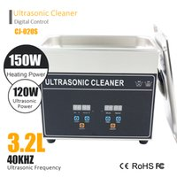 Wholesale Ultrasonic Glasses Cleaner - CJ 020S 3.2L 120W Ultrasonic cleanner 150W Heating Home cleanning machine glass jewelury clean home use ABS housing