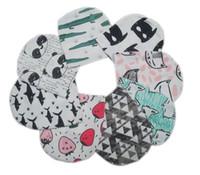 chapéus brancos do preto do crochet venda por atacado-21 Estilo Adorável Crianças INS Chapéus de Algodão Crianças Moda Bonito Dos Desenhos Animados Caps INS Fox Gorros Panda Tiger Chapéus Inverno Impresso Tampas Do Bebê K7145