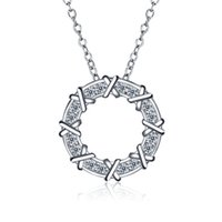 Wholesale Sterling Silver X Necklace - American Jewelry Pendant 925 Sterling Silver X alphanumeric set chain chain selling female clavicle
