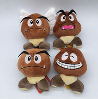 Wholesale Goomba Doll - Plush Toys Super Mario Doll Brown Goomba Stuffed Animal Plush Doll Toy New With Tag 15cm 4 colors YYA669