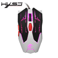Wholesale Moving Buttons - HXSJ X100 Professional USB Wired Game Mice Quick Moving LED Light Gaming Mouse Game Peripherals with Six Buttons