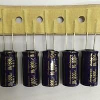 rubycon-elektrolyt-kondensatoren großhandel-Großhandels-10pcs 1800uF 10V RUBYCON MBZ-Reihe ultra niedrige ESR 10x20mm 18V1800uF Aluminiumelektrolytkondensatoren
