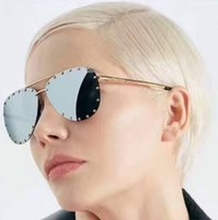 Fashion Man Antireflection Hot Sale New 2017 Z0914U Top Quality Alloy Women Sunglasses Rimless Brand Sunglasses Oval Fashion Retro Punk Woman Sunglasses 65-16-140
