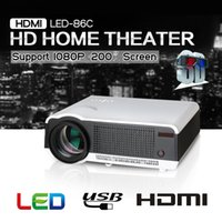 Atacado-Android4.4 HD Original LED 86 Projetor 5500 lumens Home Theater 3D HDMI VGA USB AV 1280x768 Vídeo MINI Projetor filme