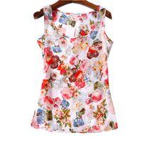 Wholesale Ladies Shirts Wholesale China - Summer Women T-shirts 16 Styles Flower Print Ladies Blusa Feminina Top Tee T Shirt Plus Size Cheap Clothes China Female Tops
