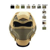 Wholesale Outdoor Shooting Sports Face Protection Gear V7 Metal Steel Wire Mesh Full Face Tactical Airsoft Mask