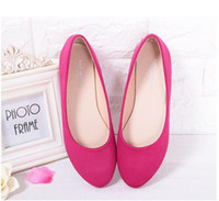 Wholesale Purple Ballerina Shoes - SELL NEW Spring Summer Ladies Shoes Ballet Flats Women Flat Shoes Woman Ballerinas GRAY Large Size 32 - 44 Casual Shoe Sapato Womens Loafe