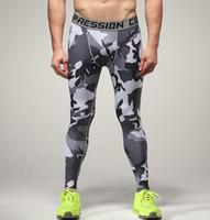 pantalons de compression achat en gros de-Vente en gros- Pantalon de compression Armée Camouflage Joggings Leggings Collants Fitness Mode Casual Mens Pantalons Pantalons Marque Vêtements