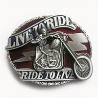 Wholesale Emo Belts - New Vintage Enamel Emo Skull Motorcycle Biker Rider Belt Buckle Gurtelschnalle Boucle de ceinture BUCKLE-AT065 Brand New