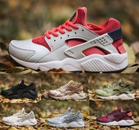Wholesale Tennis Logos - 2017 Huarache Running Shoes Men Women White Airlis Huaraches Sports Tennis Men's Women's Popular Zapatillas Deportivas Brands Logos Sneakers