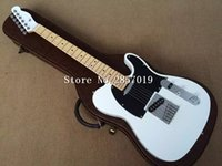 Wholesale Class Guitar - Free shipping wholesale and first-class white TL custom shop electric guitar silver hardware