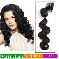 Wholesale braiding hair machine wholesalers online - Body Wave Braid Human Hair Extensions Do Not Cut Weft To Weave Into Your Own Hair