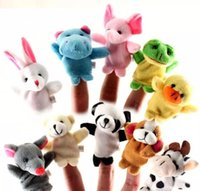 En Stock CHeap Cute Animales Juguetes Unisex Toy Finger Puppets Dedo Animales Juguetes Cute Cartoon Toy de los niños rellenos