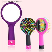 Male null null Styling Tools Combs LKE Magic Hair Comb Brush Rainbow Volume Anti Tangle Anti-static Styling Tools Head Massager Hairbrush With Mirror