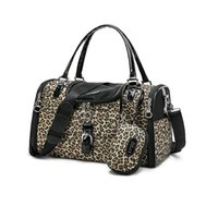 Wholesale Eco Leather - Free Shipping Worldwide Leopard Style Portable Pet Dog and Cat Travel Bag