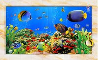 Wholesale Underwater Wall Decorations - 3d wallpaper custom photo mural Underwater world TV living room decoration painting picture 3d wall murals wallpaper for walls 3 d
