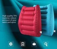 Wholesale Automotive Cushion - TPU Automotive Auto Car Air Inflation Waist Cushion Back Lumbar Support Tournure Convenient Nozzle Interior Decoration Accessories 195628401