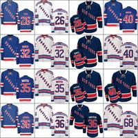 Wholesale green ranger spandex - 2017 New York Rangers 40 Michael Grabner 68 Jaromir Jagr 32 Antti Raanta 26 Jimmy Vesey 35 Mike Richter Ice Hockey Jerseys stitch